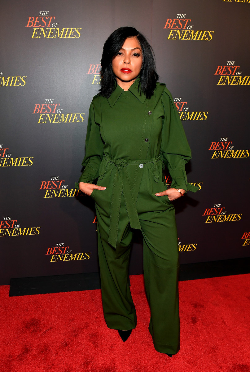 "Taraji P. Henson in Alberta Ferretti at ""The Best of Enemies"" premiere in Atlanta. Photo: Paras Griffin/Getty Images"
