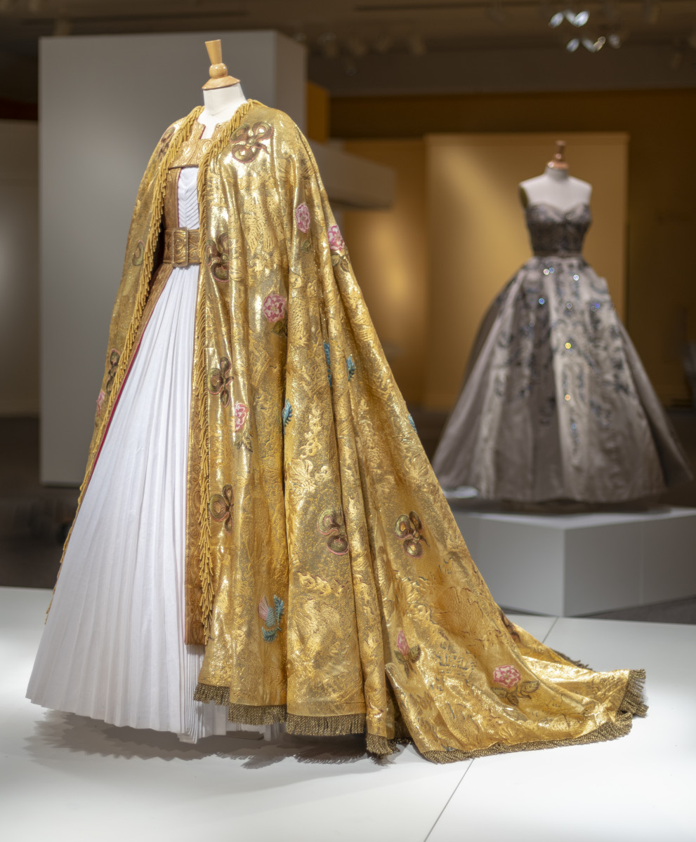 Queen Elizabeth II's coronation robes at front and Princess Margaret's gown at back right, both designed by Michele Clapton for 'The Crown' season one and to be on display in 'Costuming the Crown' at the Winterthur. Photo: Courtesy of the Winterthur