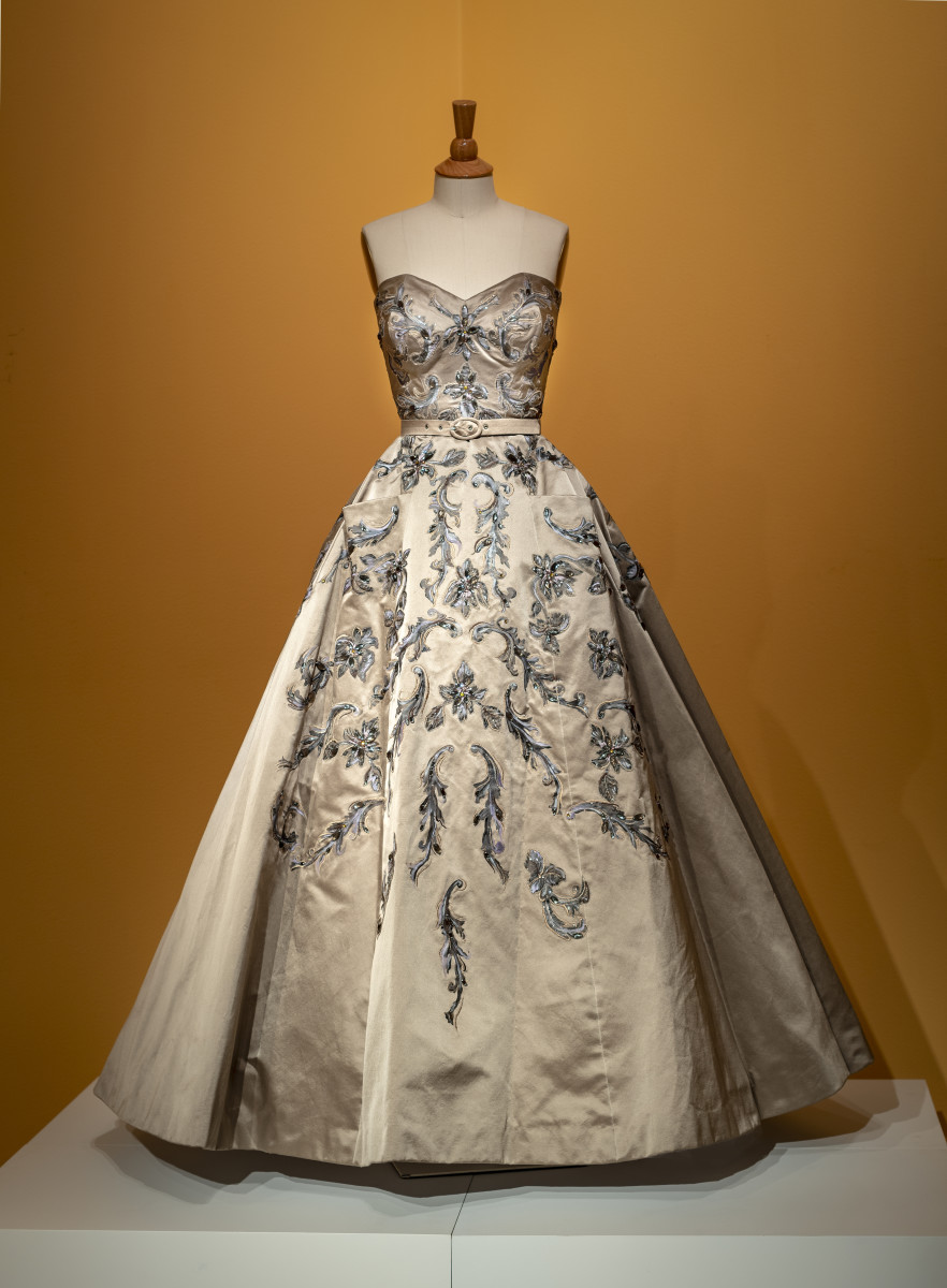 Princess Margaret's gown designed by Michele Clapton for 'The Crown' season one to be on display in 'Costuming the Crown' at the Winterthur. Photo: Courtesy of the Winterthur