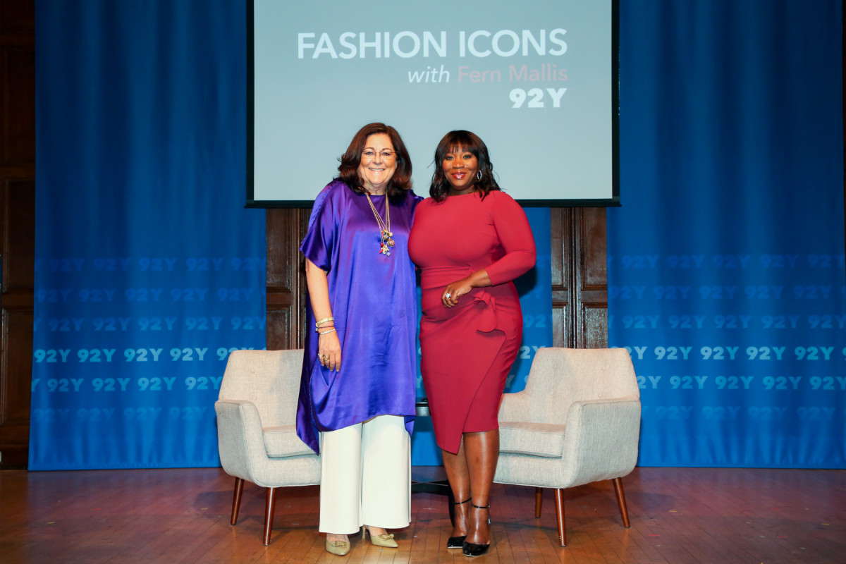 Fern Mallis and Bevy Smith at 92Y. Photo: Andrea Klerides/Michael Priest Photography/Courtesy of 92Y