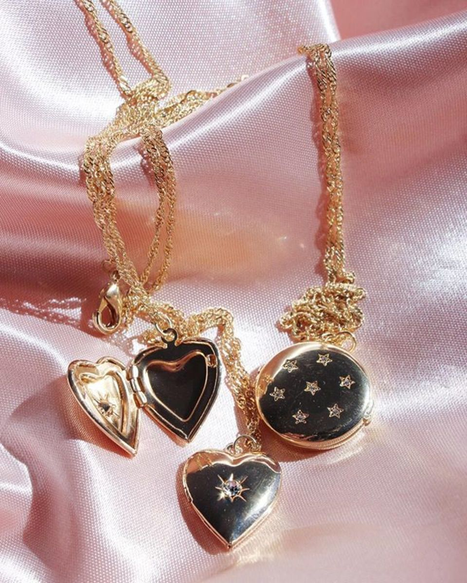 Frasier Sterling locket necklaces. Photo: Courtesy of Frasier Sterling