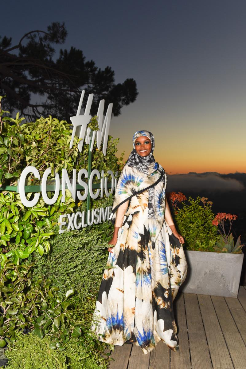 Halima Adenat the H&M Conscious Exclusive Event. Photo: BFA