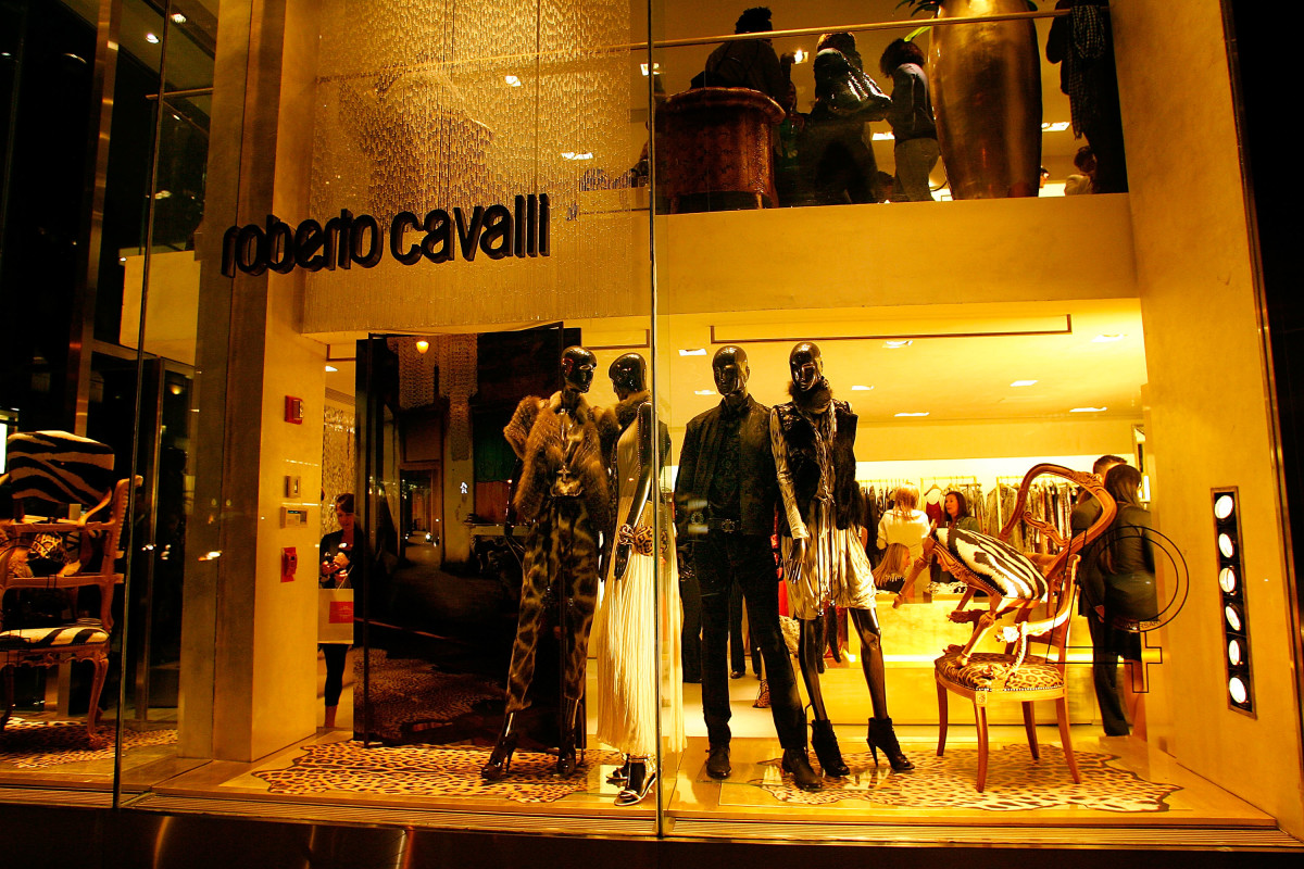 A Roberto Cavalli Boutique in New York City. Photo: Andy Marlin/Getty Images for Roberto Cavalli