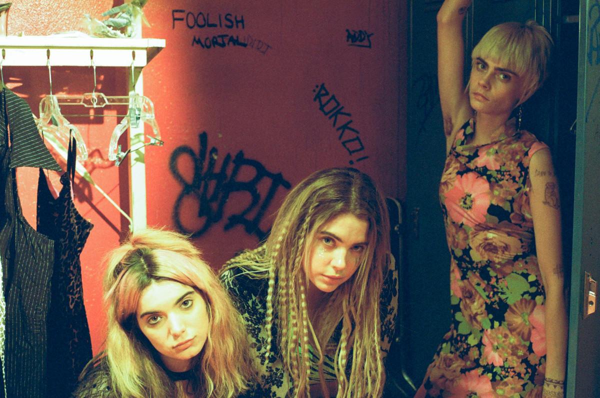 Dottie O.Z. (Dylan Gelula), Roxie Rotten (Ashley Benson) and Crassie Cassie (Cara Delevingne). Photo:Don Stahl/Courtesy of Gunpowder & Sky
