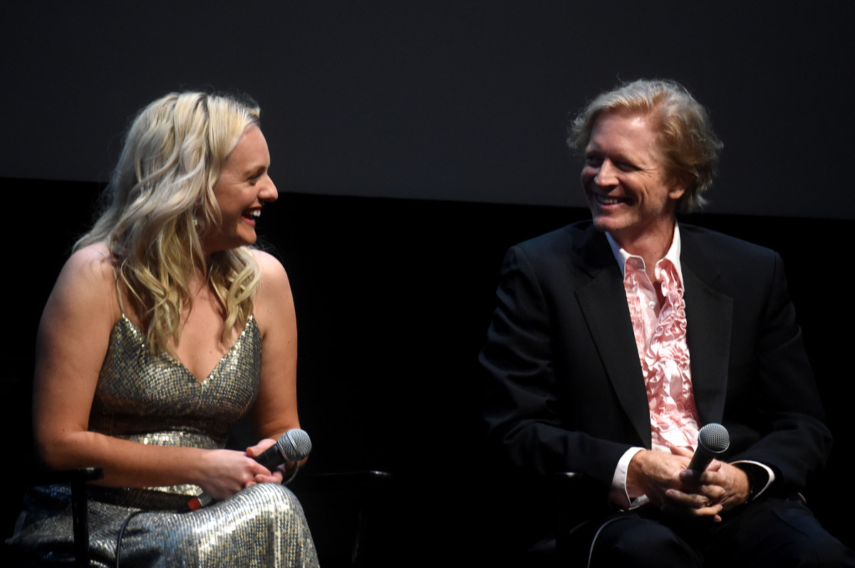 Moss and Eric Stoltz in his pink tuxedo shirt at the New York Film Festival. Photo: Jamie McCarthy/Getty Images