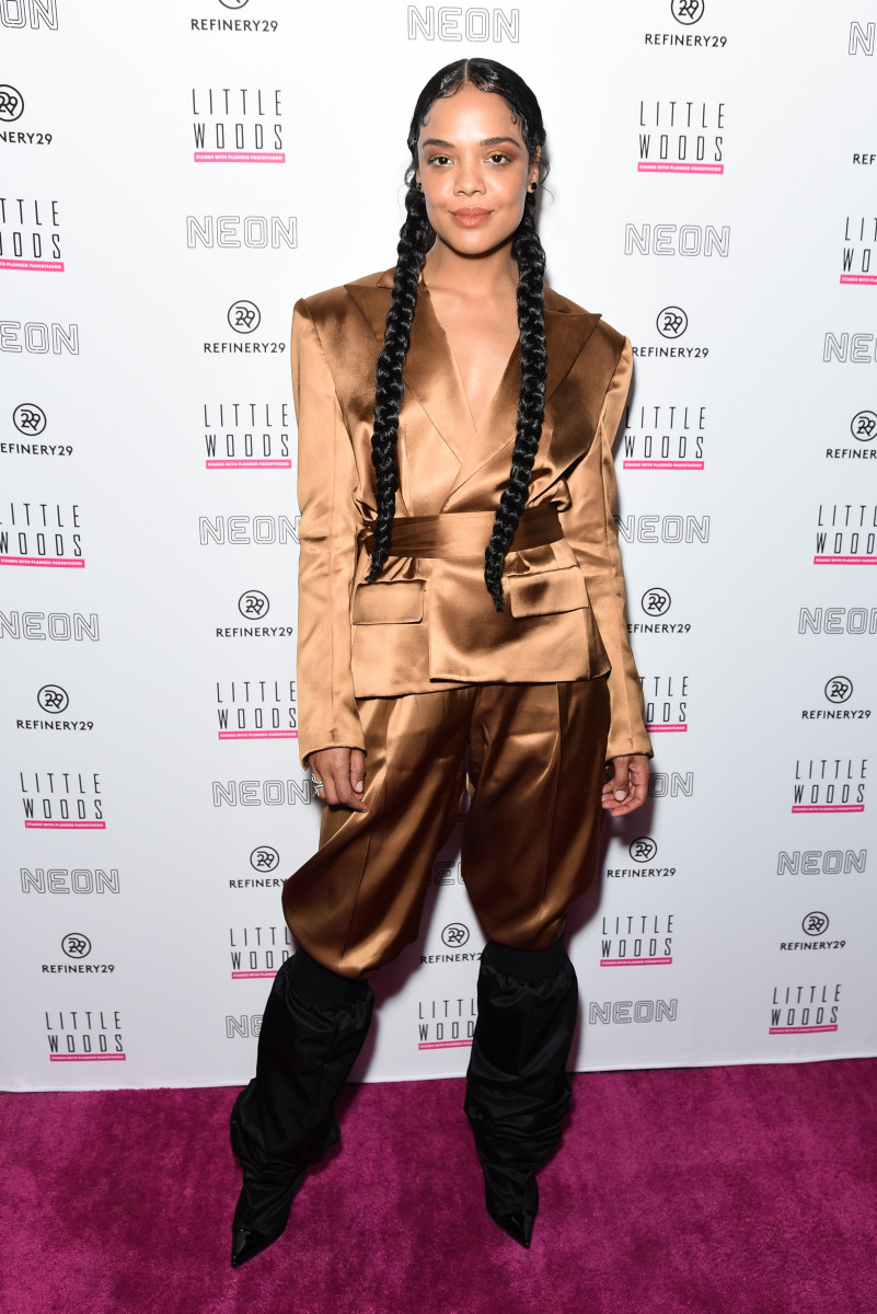 "Tessa Thompson at the ""Little Woods"" hosted by Refinery29 and Neon in Los Angeles. Photo: Presley Ann/Getty Images"