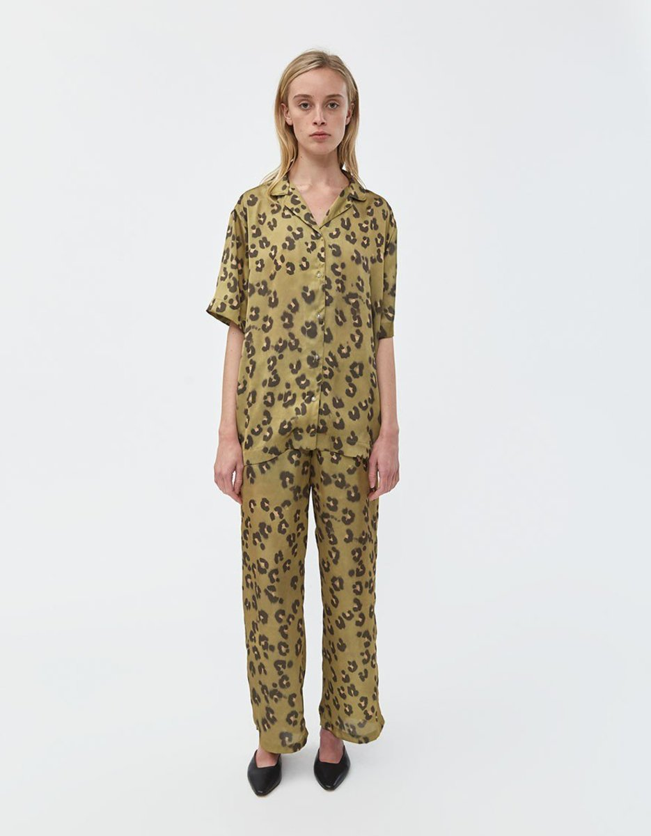Need Francis Shirt, $155, available here, and Luane Pull-On Pant, $135, available here, in Leopard Moss.