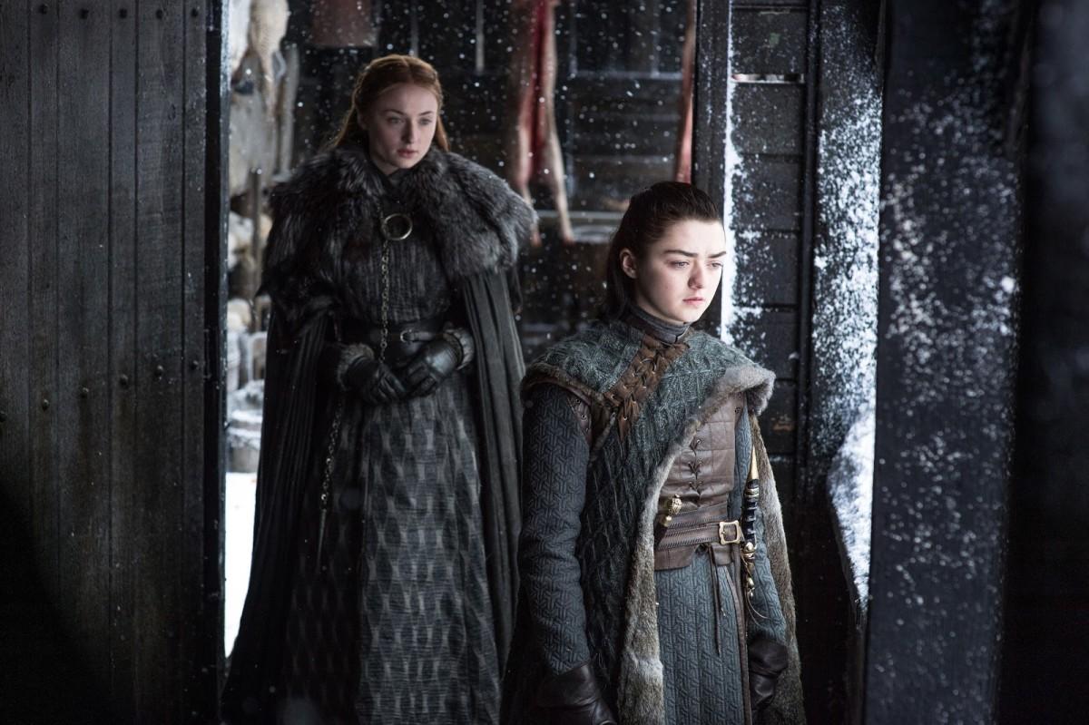 Sansa and Ayra. Photo: Helen Sloan/HBO