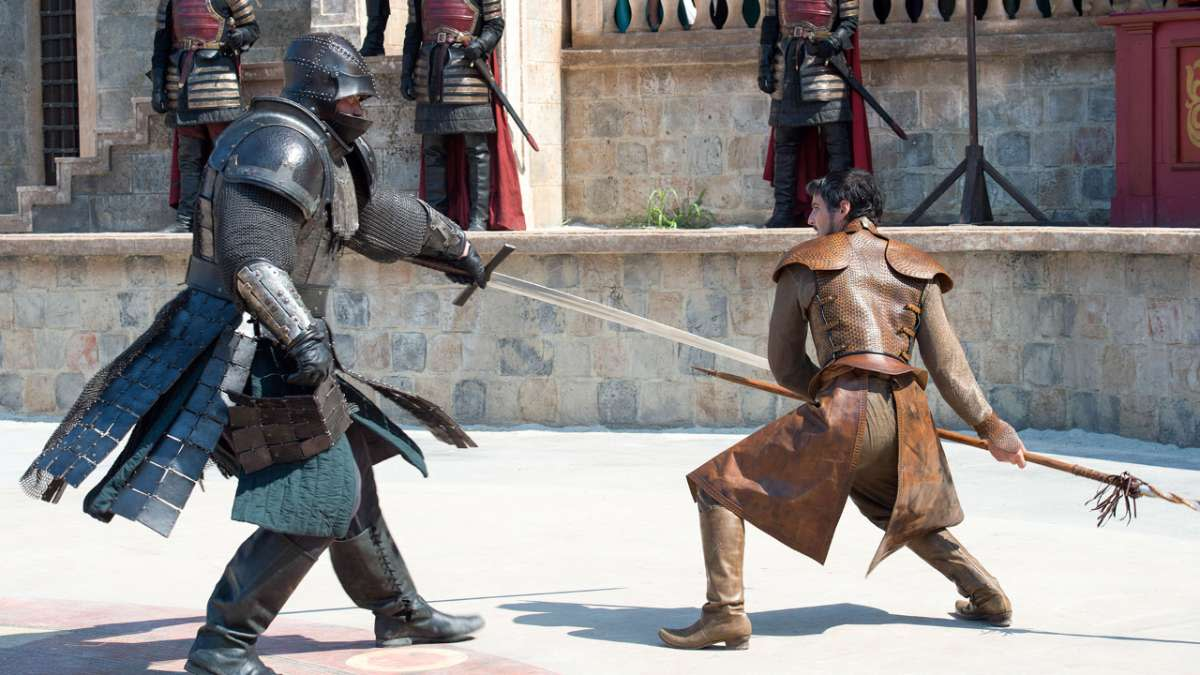 Pedro Pascal,right, as Oberyn Martell, the Viper. RIP. Photo: Courtesy of HBO