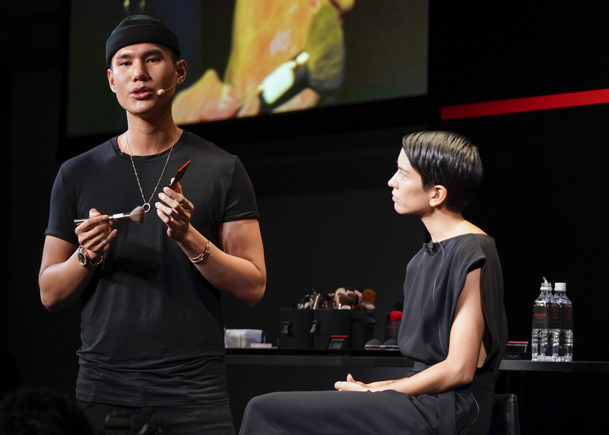 A master class with Patrick Ta in Tokyo, Japan. Photo: Christopher Jue/Getty Images for SHISEIDO
