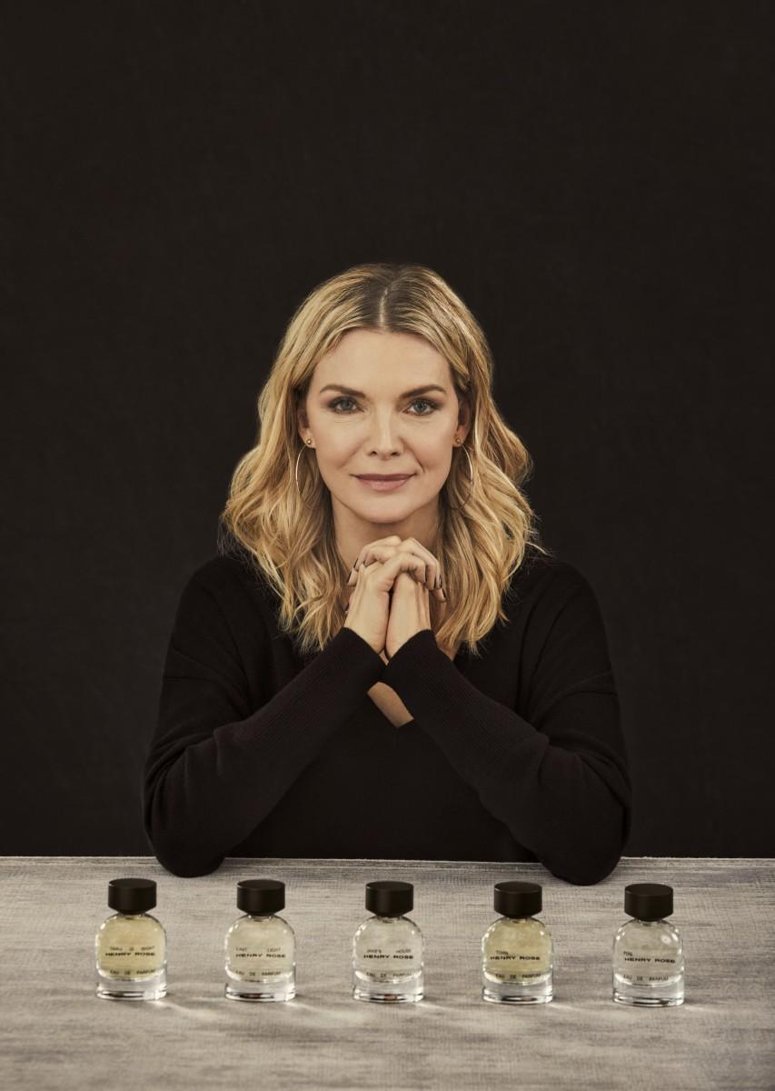 Michelle Pfeiffer and fragrance line Henry Rose. Photo:Danielle Levitt/Courtesy of Henry Rose