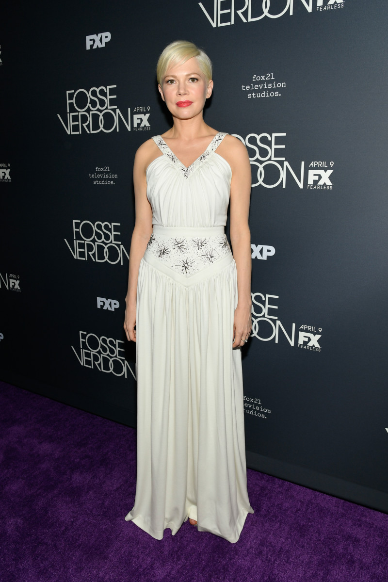Michelle Williams in Louis Vuitton at the premiere of 'Fosse/Verdon' in New York City. Photo: Mike Coppola/Getty Images