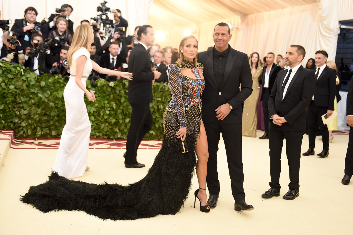 "Jennifer Lopez and Alex Rodriguez at the ""Heavenly Bodies: Fashion & The Catholic Imagination"" Costume Institute Gala at The Met. Photo: Jason Kempin/Getty Images"
