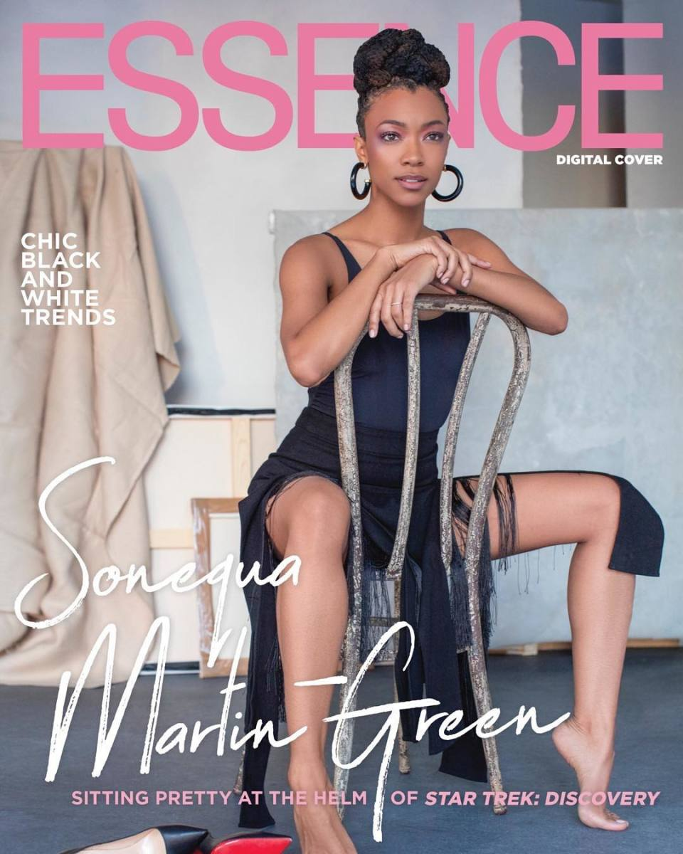 "Sonequa Martin-Green on a digital cover of ""Essence."" Photo: Derek Reed"