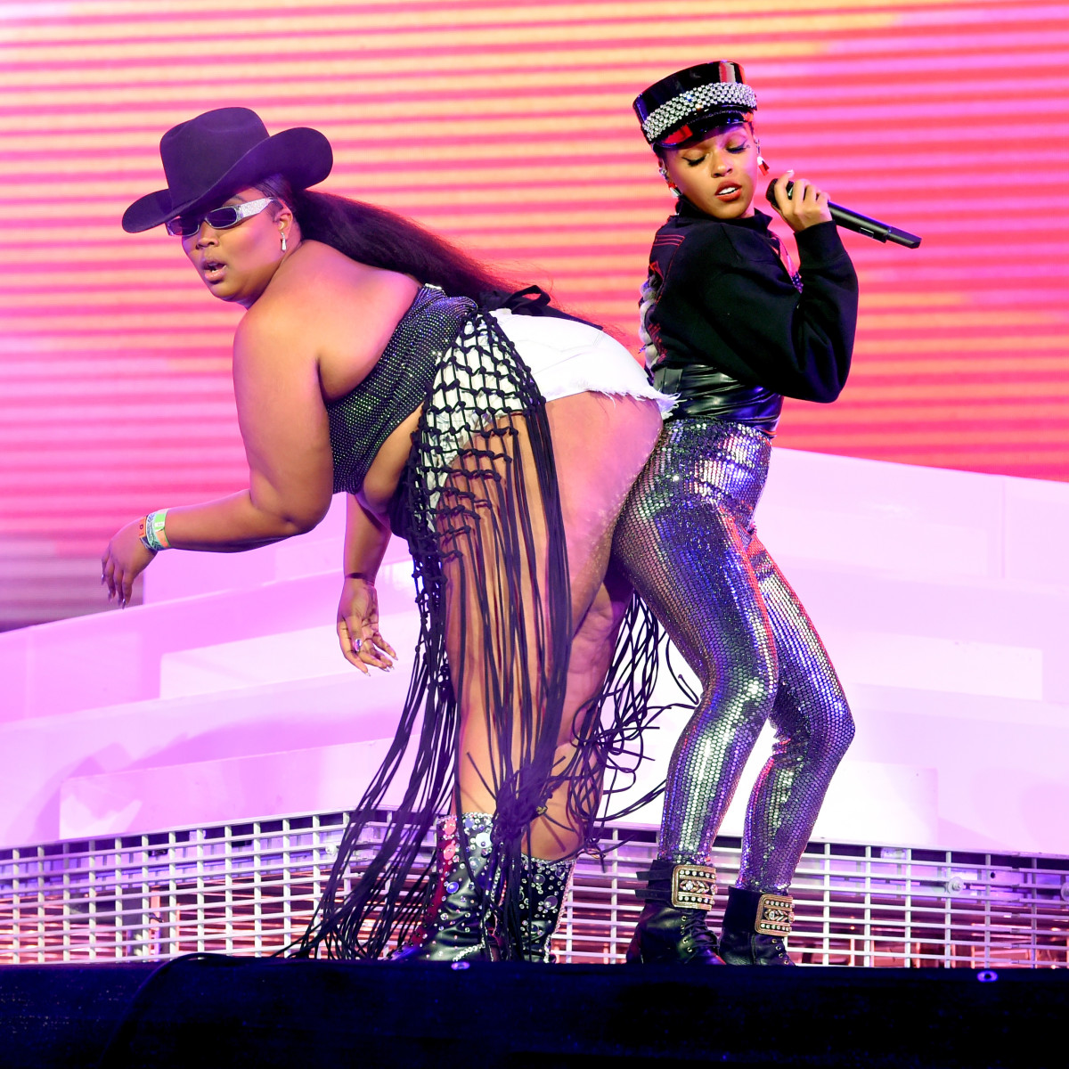 Lizzo and Janelle Monaé performing at Coachella. Photo: Kevin Winter/Getty Images