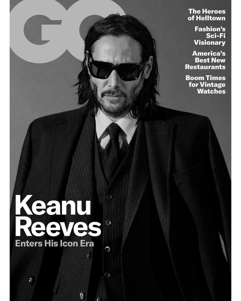 "Keanu Reeves on the May cover of ""GQ."" Photo: Daniel Jackson"