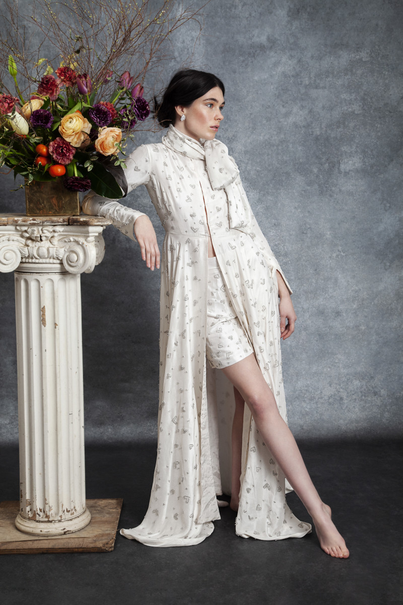 The Diana caftan and Diana shorts from Sahroo's bridal debut, The Love Collection. Photo: Courtesy of Sahroo