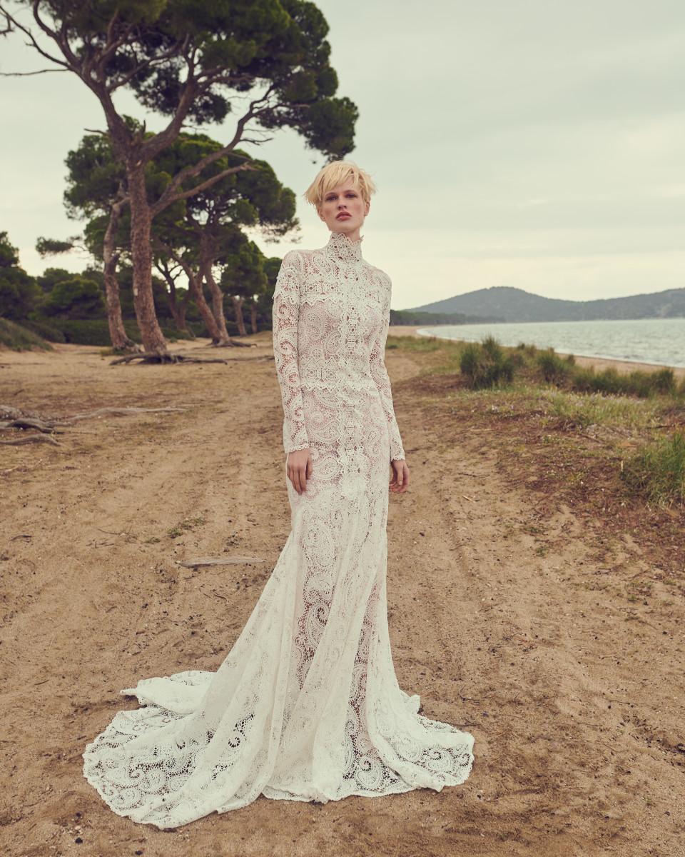 A look from the Costarellos Spring 2020 bridal collection. Photo: Courtesy of Costarellos