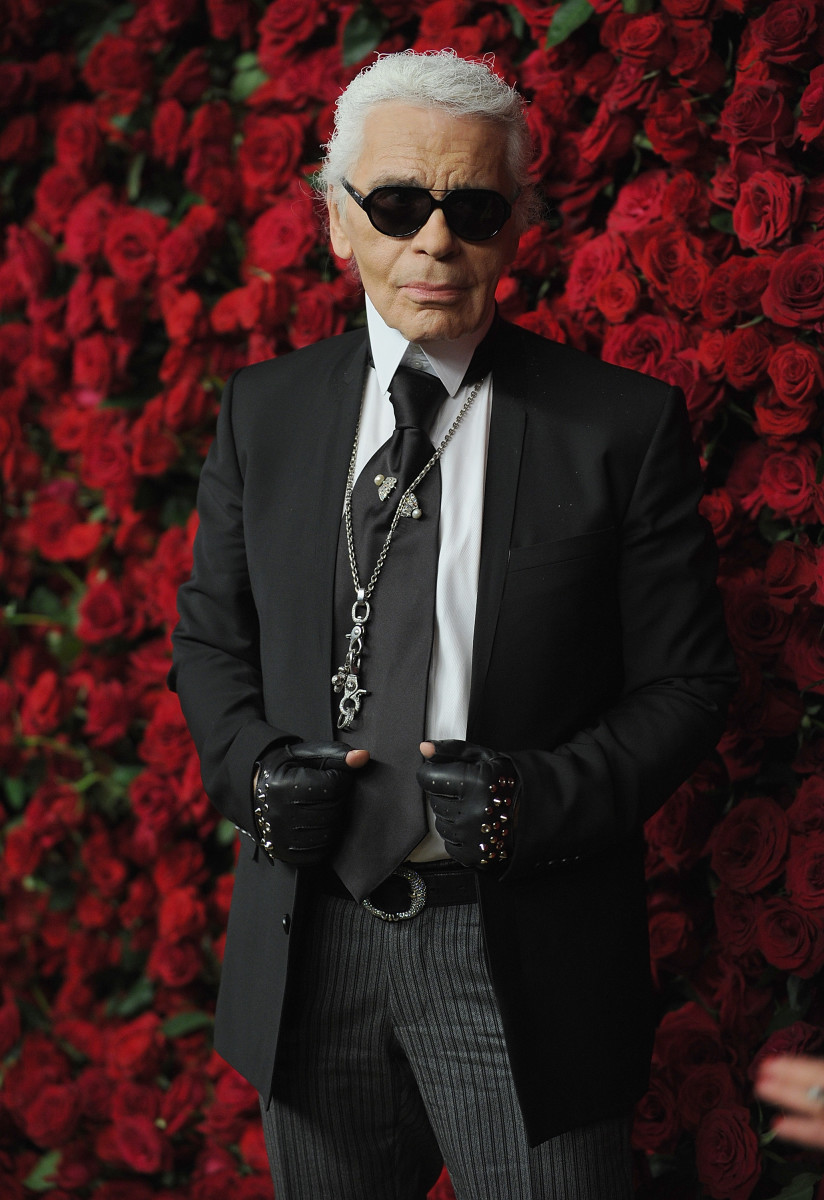 Karl Lagerfeld at Museum of Modern Art's 4th Annual Film benefit 'A Tribute to Pedro Almodovar' New York City. Photo by Dimitrios Kambouris/Getty Images