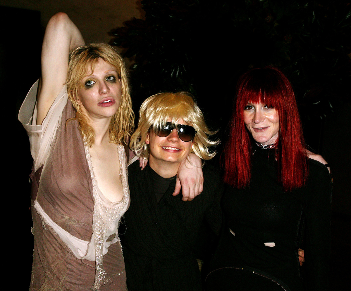 It's come full circle. Courtney Love, Savannah Knoop as JT LeRoy, Laura Albert as Speedie at the after-party for the reading of 'Sarah' and 'The Heart Is Deceitful Above All Things' during the Spring 2004 season of NYFW Spring 2004 on September 13, 2003. Photo: Matthew Peyton/Getty Images
