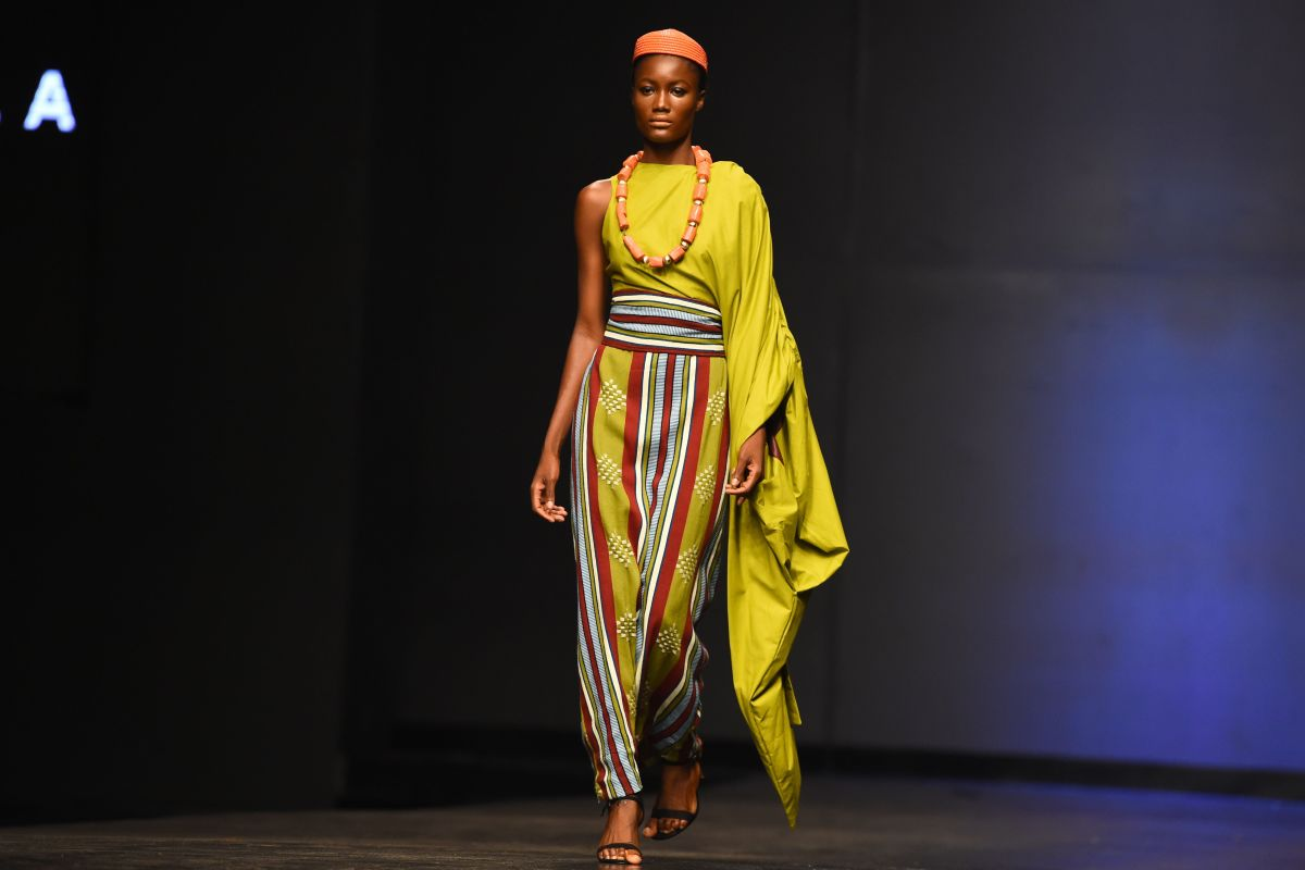 A look from a fashion show in Lagos, Nigeria in 2018. Photo: PIUS UTOMI EKPEI/AFP/Getty Images