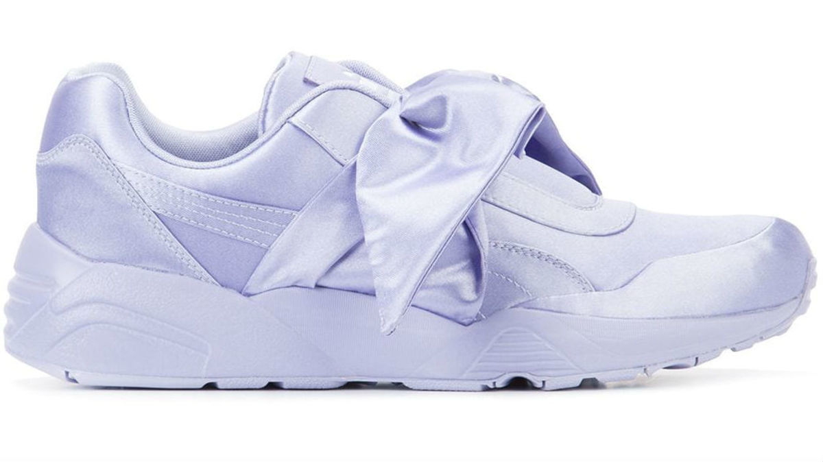 Fenty x Puma Bow Sneakers in Purple, $155, available here.