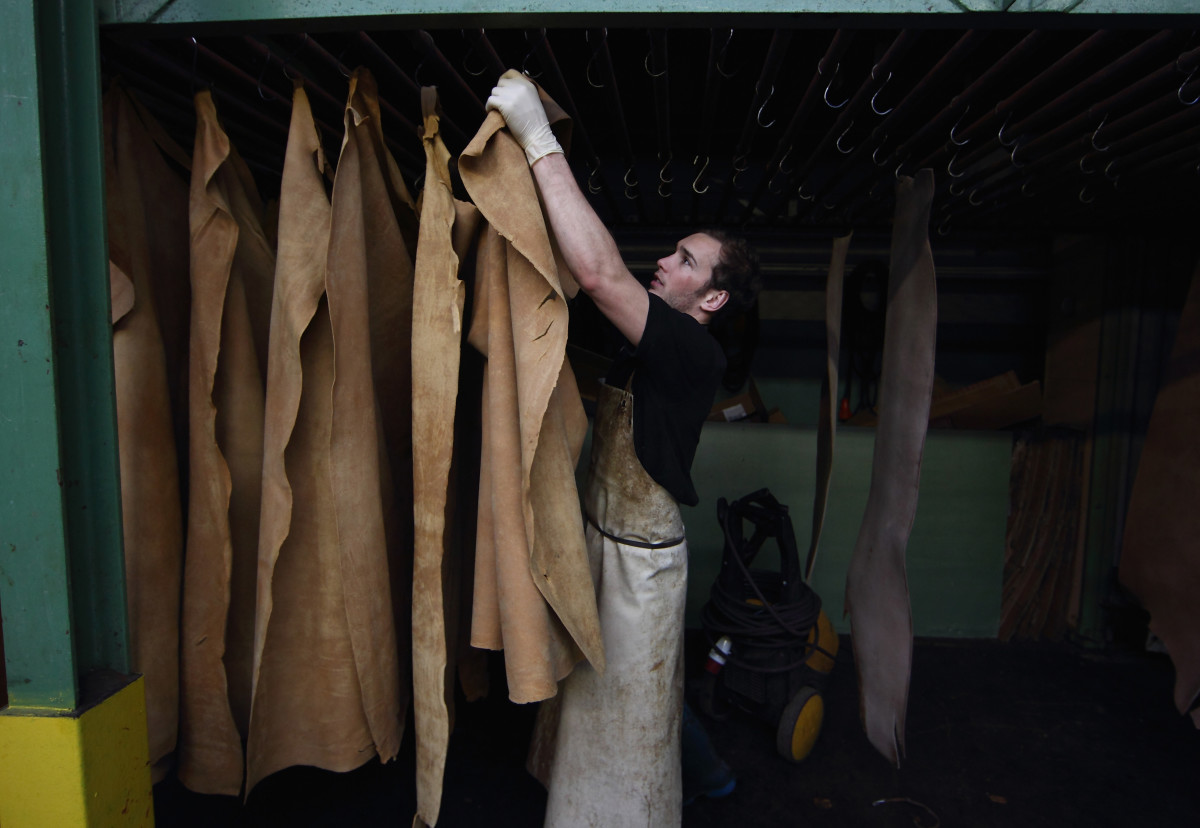 Inside a tannery. Photo: Andreas Rentz/Getty Images