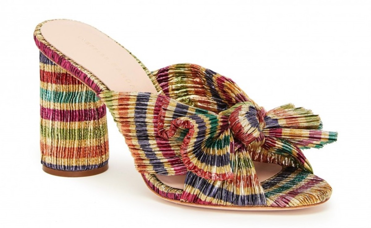 Loeffler Randall Penny Knot Mule in Candy Stripe, $395, available here.