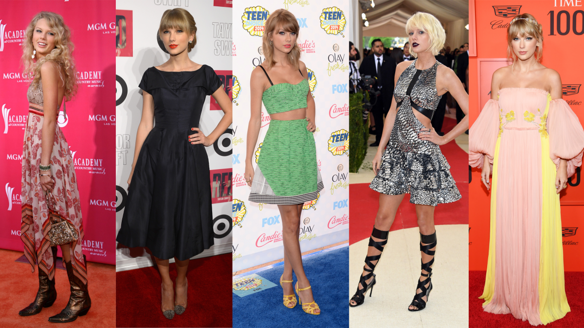 Taylor Swift through the ages. Photo: Getty Images