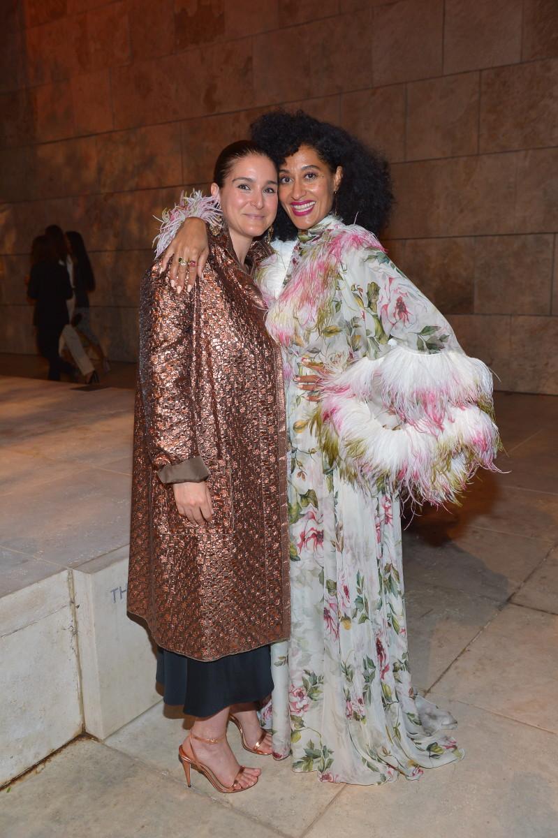 Celine Khavarani with Tracée Ellis Ross. Photo: Getty Images/Courtesy Celine Khavarani