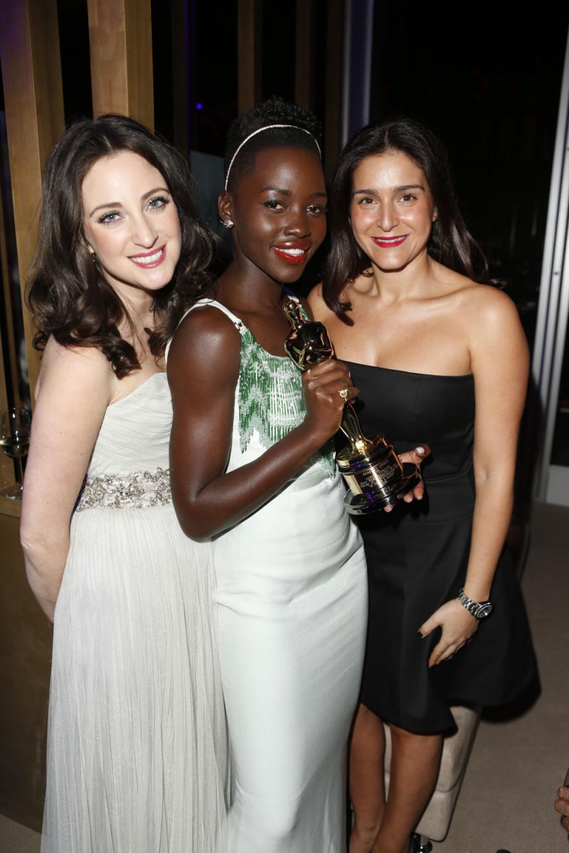 Micaela Erlanger, Lupita Nyong'o and Celine Khavarani. Photo: Getty Images/Courtesy of Celine Khavarani