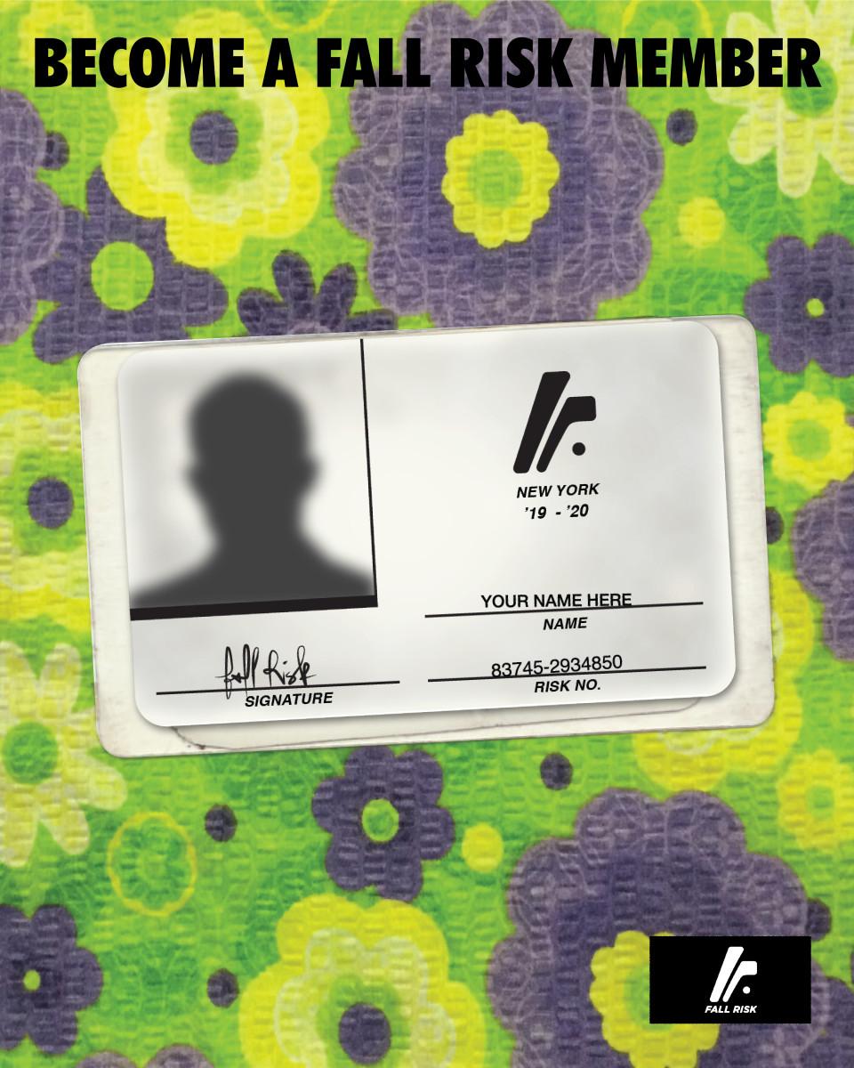 Membership card for Fall Risk.Photo: Remi Lamande