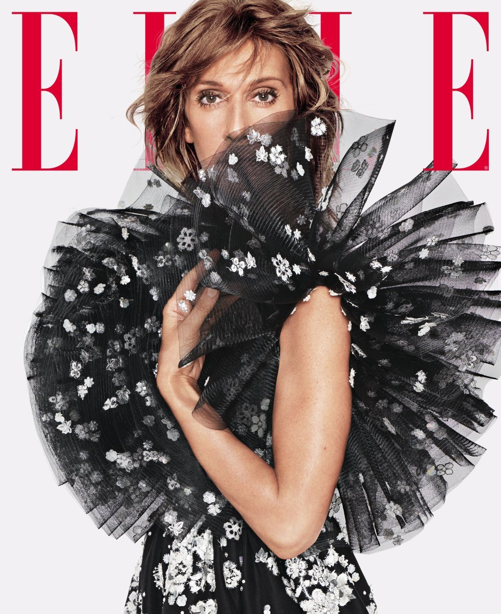 """Céline Dion on the special subscriber June cover of """"Elle."""" Photo: Tom Munro"""