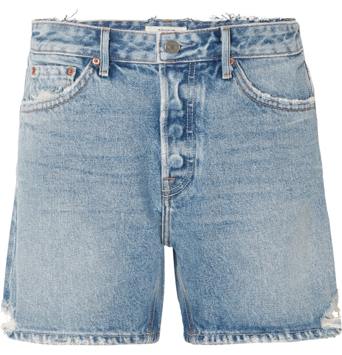 Grlfrnd Jourdan Distressed Denim Shorts, $158, available here.