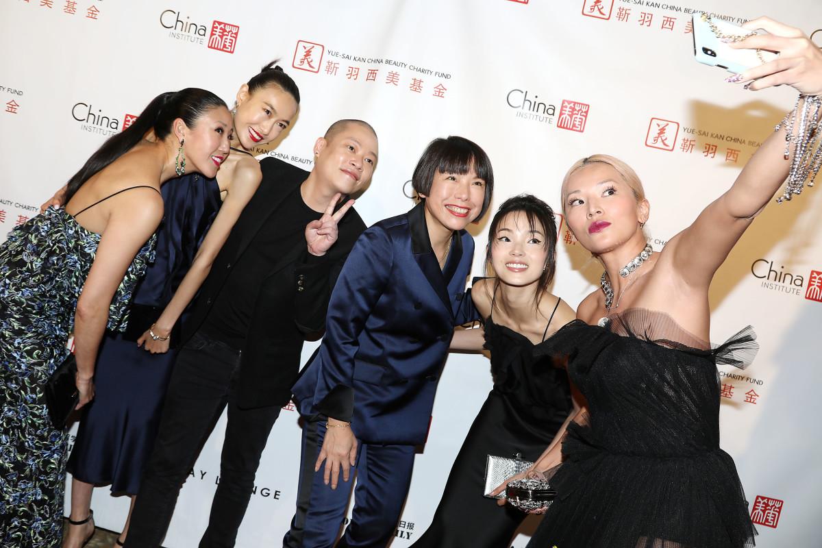 L-R: Winnie Chang, Shu Pei, Jason Wu, Angelica Cheung, Ju Xiao Wen, Tina Leung at the China Fashion Gala. Photo: Starpix/Courtesy of China Institute