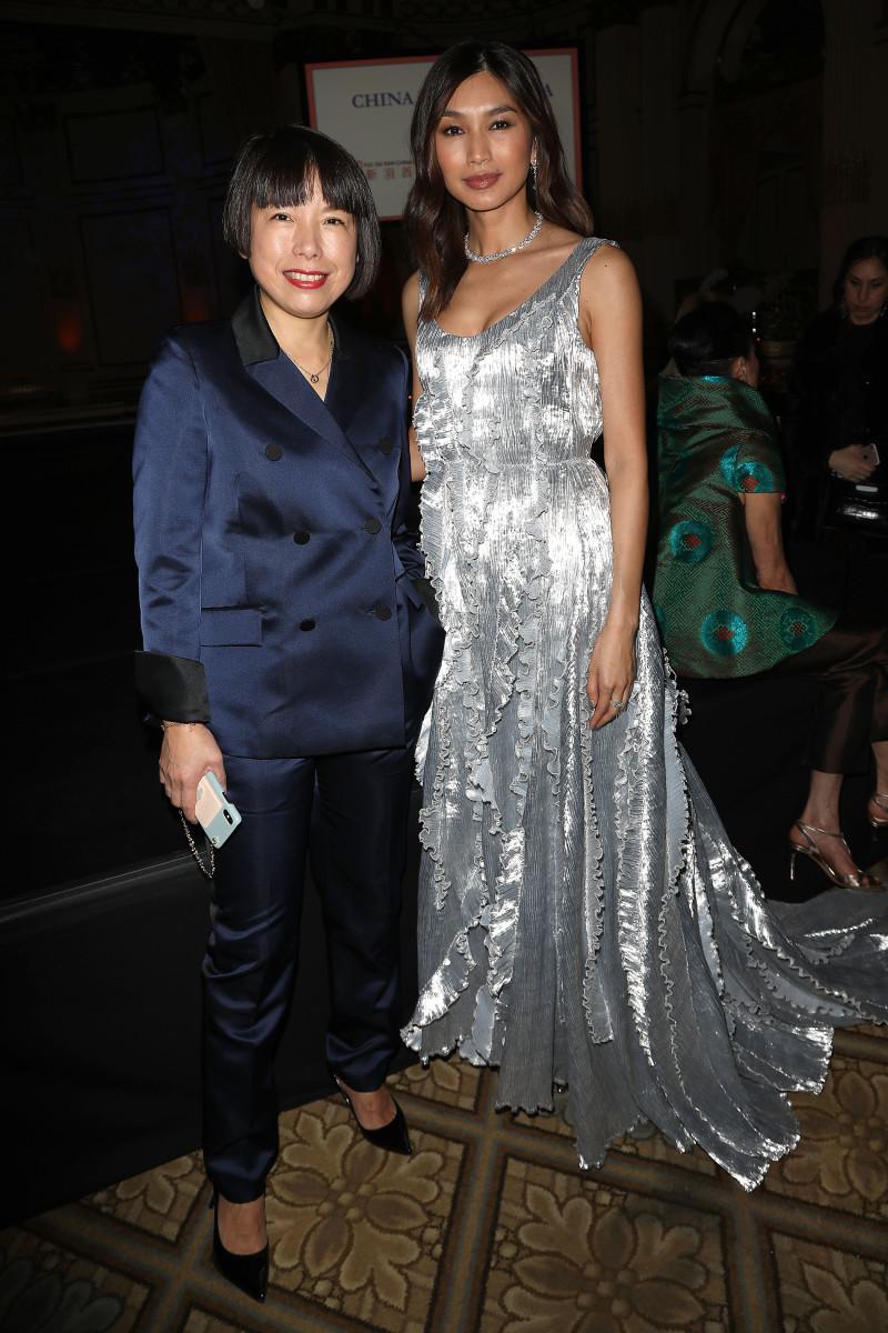Angelica Cheung and Gemma Chan. Photo: Starpix/Courtesy of China Institute