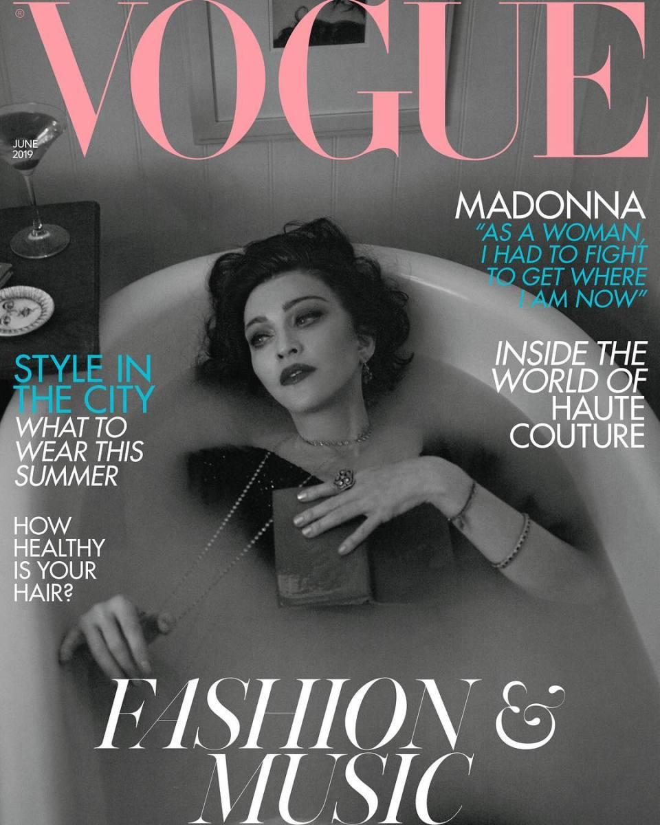 "Madonna on the June cover of British ""Vogue."" Photo:Mert Alas and Marcus Piggott"