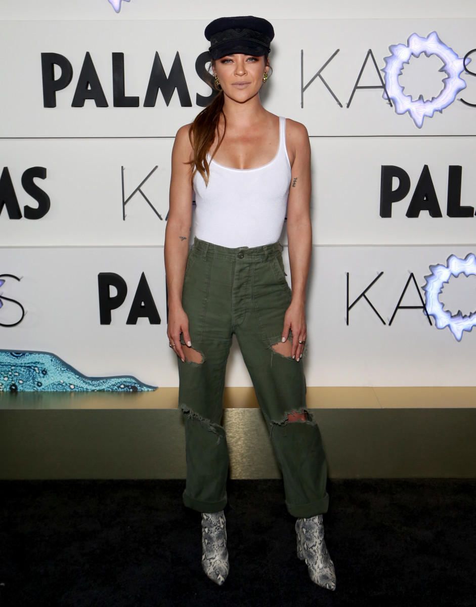 Jessica Szohr at the grand opening of KAOS Dayclub & Nightclub at Palms Casino Resort. Photo: Gabe Ginsberg/Getty Images for Palms Casino Resort