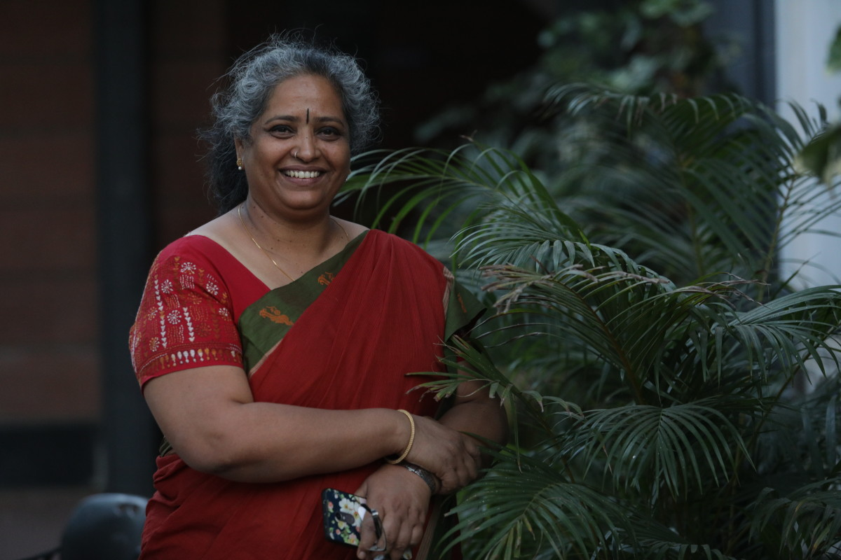 Nalini Shekar, founder of Hasiru Dala, in Bangalore. Photo: Courtesy of The Body Shop