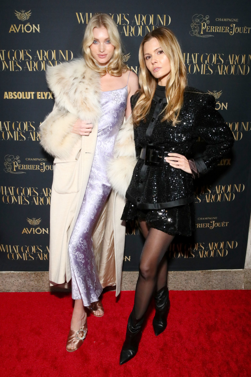 Celebrity Travel: Victoria's Secret Angel Elsa Hosk and stylist Elizabeth Sulcer at the opening of the What Goes Around Comes Around Madison Avenue flagship. Photo: Astrid Stawiarz/Getty Images