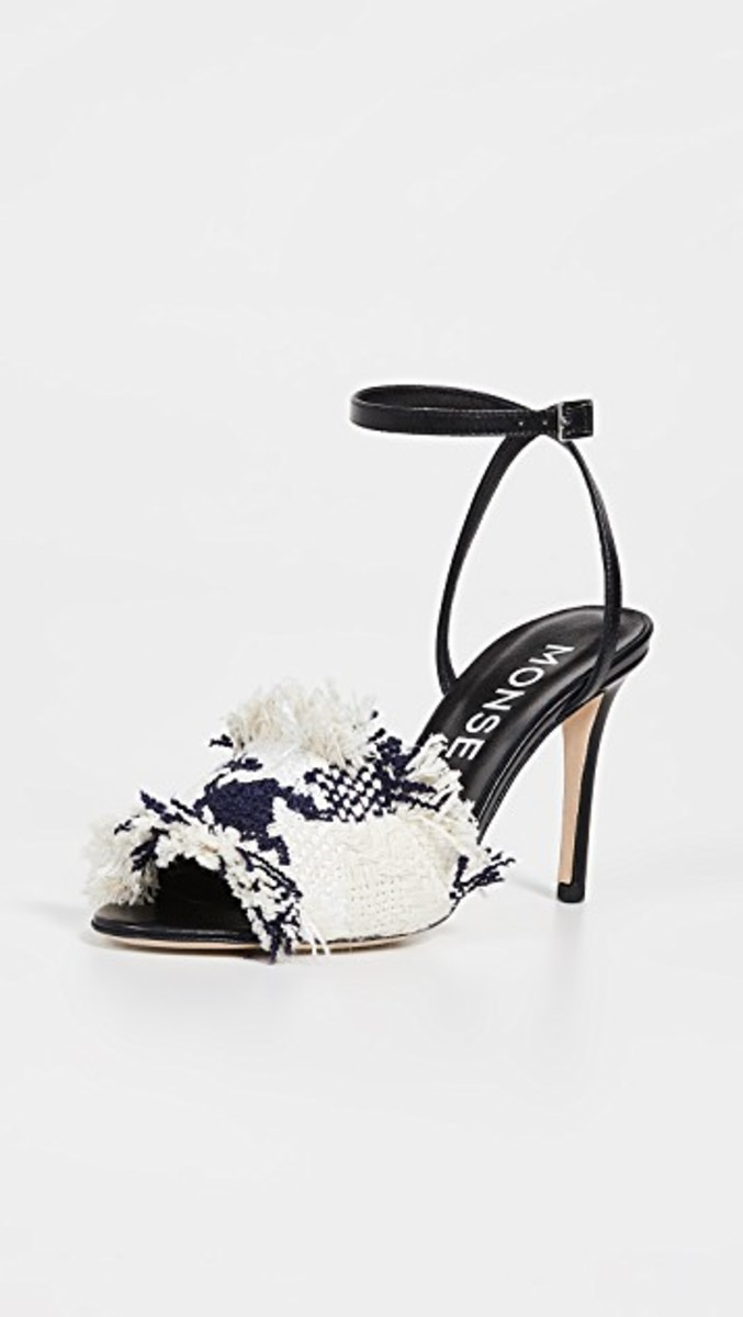 Monse Strappy Tweed Sandals, $590, available here.
