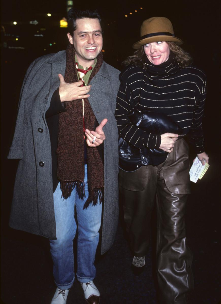 Celebrity Fashion: Diane Keaton and Jonathan Demmy leaving the