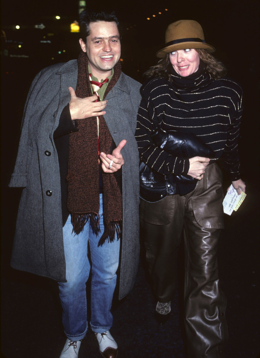 """Diane Keaton and Jonathan Demmy leaving the """"Crimes of the Heart"""" play in 1981."""