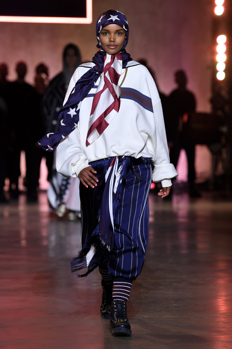 Aden walks the Tommy Hilfiger runway for Spring 2020 during London Fashion Week in February.