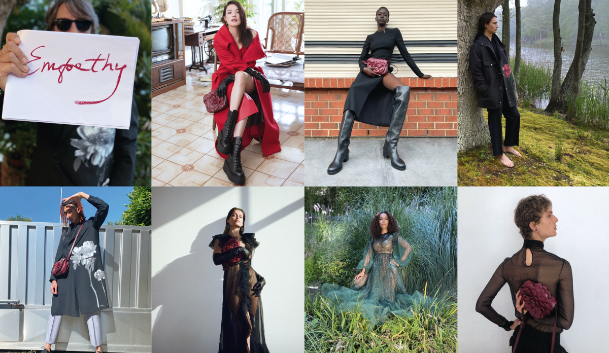 "Images from Valentino's Fall 2021 ""Empathy"" ad campaign."