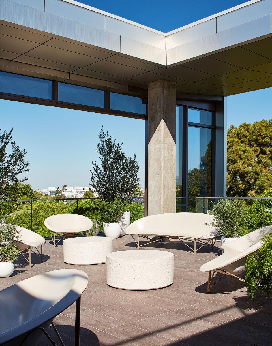 Goop's heated outdoor terrace.