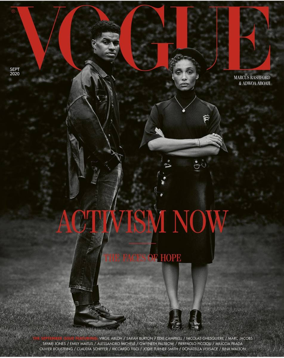 "Activists on the September 2020 issue of ""Vogue"" U.K."