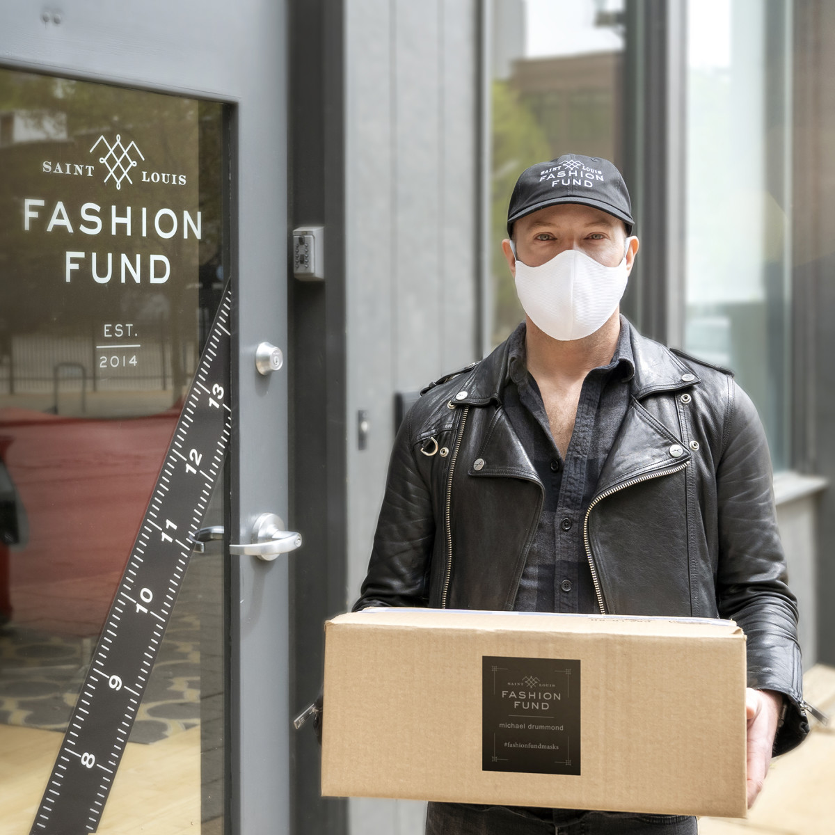 Saint Louis Fashion Fund Lab designer Michael Drummond, who spearheaded the Fund's mask initiative to provide 14,000 masks for healthcare and frontline workers.
