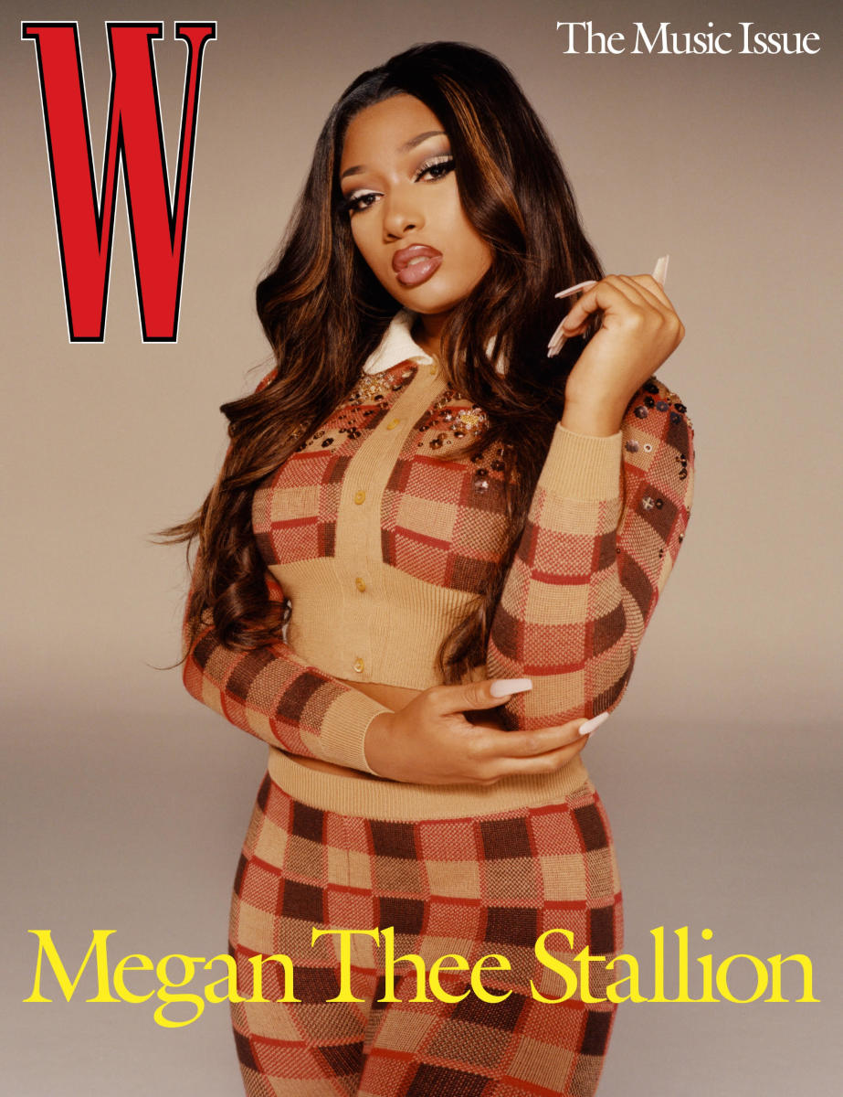 Megan Thee Stallion covers W Magazine's Music Issue.