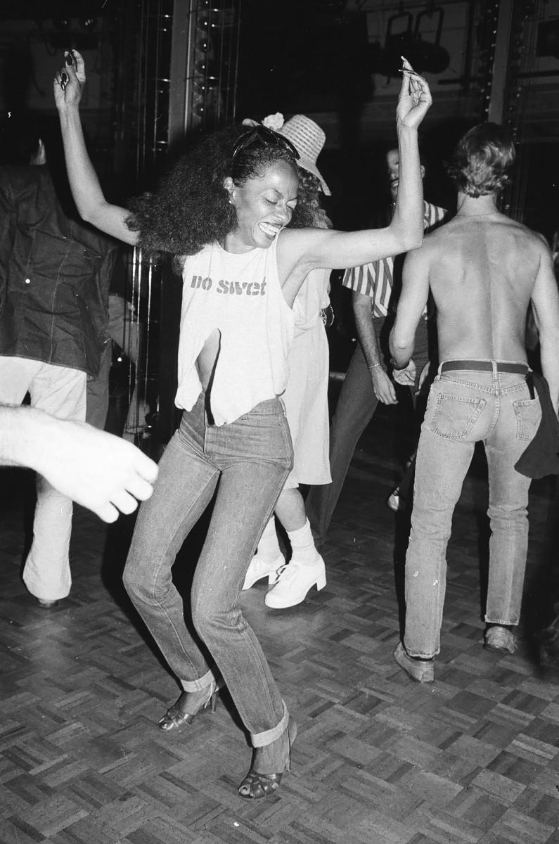 Diana Ross dancing at Studio 54, 1979